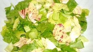 insalata, radicchio e sedano